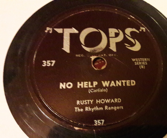 Corky Carpenter / Rusty Howard Rhythm Rangers - Tops 357 USA